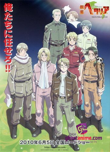 Смотреть аниме Хеталия и страны Оси (фильм) / Ginmaku Hetalia: Axis Powers - Paint it, WhiteShiroku Nure! онлайн бесплатно