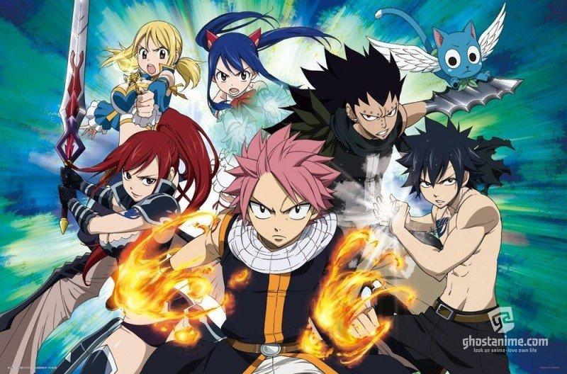 Смотреть аниме подробности про аниме-сериал Fairy Tail. онлайн бесплатно