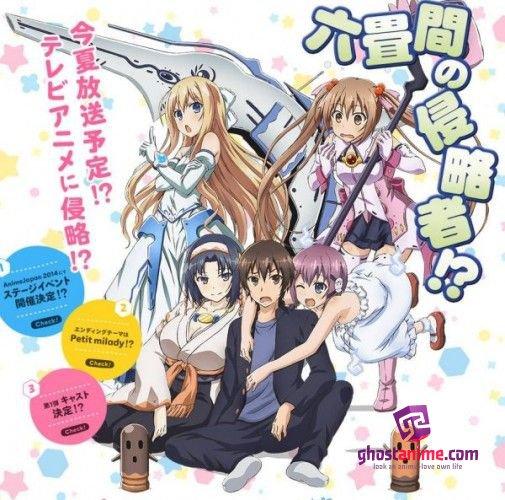 Смотреть аниме Захватчик шести татами?! / Rokujouma no Shinryakusha!? онлайн бесплатно